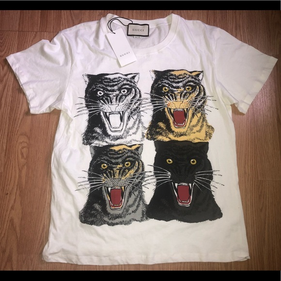 1ce728b0304d Gucci Shirts | Panther Logo Tshirt | Poshmark